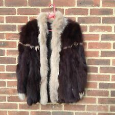 Real Fox Fur Jacket Coat Plush Deep Fur High End Quality Rare Colour M 12 Chic