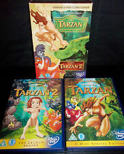 DISNEY - TARZAN (SPECIAL EDITION 2 DVD SET) / TARZAN 2 - VGC R2 DVD BOX SET