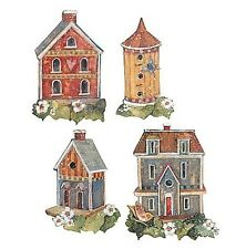 WALLIES BIRDHOUSES wall sticker 25 prepasted decal bird house Susan Winget decor