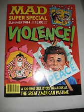 Summer 1984 MAD Magazine Special Rare A Mad 100-Page Look At Violence! VF