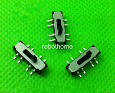 20pcs MSS23D19 MINI SMD Slide Switch 2P3T 8Pin DIY Electronic Accessories