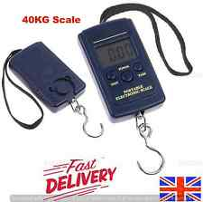 40KG DIGITAL LCD SCALE BALANCE FISHING HANGING POCKET WEIGHING LUGGAGE SUITCASE