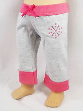 "American Girl AGP FASHION SHOW CROPPED PANTS in Bag for 18"" Doll Pink Stars NEW"