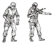 CMK 1:35 US Special Forces Medics For UH-60 2 Resin Figures Kit #F35197
