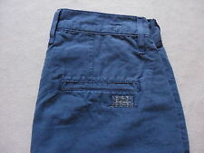SEVEN FOR ALL MANKIND MENS DARK BLUE LINEN CHINO CASUAL DRESS SHORTS SIZE 28 NEW