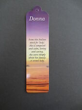 BOOKMARK DONNA Name Meaning Personalised New CHRISTMAS Stocking Gift Present
