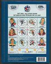 Canada Stamps -Full Pane of 6 in Cover -2000, NHL All Stars   #1838 -MNH