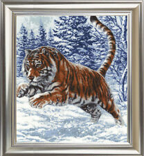 Counted Cross Stitch Kit Golden Fleece Tiger's Jump Winter Snow