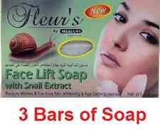 Pack 3 Caracol extractos Face Lift Jabón Skin Care reducir las arrugas líneas finas