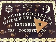 `LARGER SIZE' - Ouija Board -Black & Gold - Spirit Board - Ouiji - Weegie-Wiji