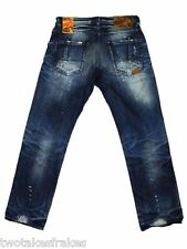 Prps Goods & Co BARRACUDA Men's SHINING muro JEANS e61p89x BNWT NUOVO girovita 29 29 ""
