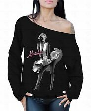 Marilyn Monroe Pink Off the shoulder oversized slouchy sweater sweatshirt