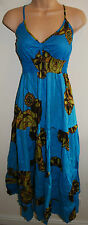 New Long Strappy Maxi Dress 8 10 12 Hippy Boho Ethnic Fairly Traded Festival