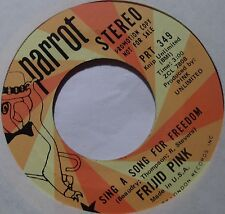 FRIJID PINK ~ SING a SONG for FREEDOM psych PROMO on PARROT 45 ~ NM-