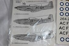 1/48 scale decals. P-51 mustang force aérienne canadienne