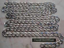 3 ft White Gold plated cable chain 8x7mm diamond twist 4 open links inch pch087