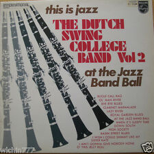 "The Dutch Swing College Band This is Jazz Vol 2 LP 12"" 33rpm vinyl record (fair)"