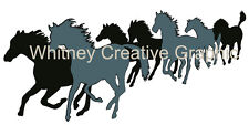 Running horses Large Graphic for RV, Horse Trailer, Wall High Quality 50X23 inch