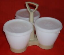VINTAGE TUPPERWARE: 3 Cup Condiment Server/ Caddy (Item #757-2)