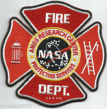 "N.A.S.A. - Ames Research Center, CA (4"" x 4"" size) fire patch"