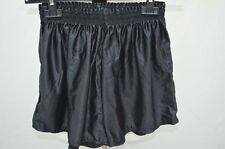 SHORT DE COURSE GAY NYLON VINTAGE RETRO M NOIR