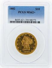 1882 Pcgs Ms62+ $10 Liberty Head Eagle Gold Coin Lot 190