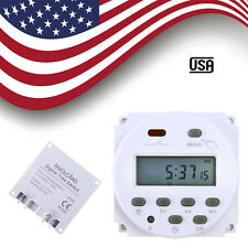 DC 12V Digital LCD Power Programmable Timer Time switch Relay 16A CN101A US Hot
