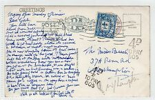 GB - DEVON: Stampless picture postcard with postage due stamp (C23990)