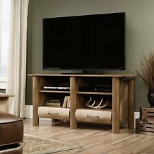 "Sauder Boone Mountain TV Stand Holds Up To A 47"" TV Craftsman Oak Finish 416598"