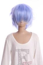 W-01-F9-1 hell-blau blue 35cm COSPLAY Perücke WIG Perruque Haare Anime Manga