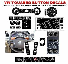 2004-2009 VW Touareg Button Decal Stickers Master 8 Sets AC Radio Steering
