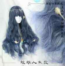 Daily hair Long Mermaid Style new Women's Lolita Gradient Wig Harajuku Gothic