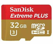 SanDisk - Extreme PLUS 32GB microSDHC UHS-3 Class U-3 Memory Card - Red/Gold