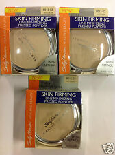 3 X Sally Hansen Skin Firming Line Minimizing Pressed Powder ( NO COLOR ) NEW.