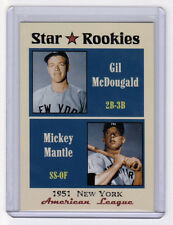 1951 Mickey Mantle & McDougald New York Yankees Star Rookies limited edition