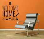 WELCOME HOME Wall Quote Art Decal Vinyl Sticker Removable Decor Mural DIY