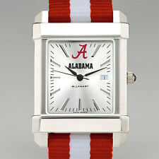 ALABAMA Crimson Tide Wristwatch striped strap M. LaHart New in Gift Box 50% off