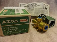 ASCO RED HAT  8345E1 - BRASS, 4 WAY, 2 POSITON SOLENOID VALVE 1/4NPT
