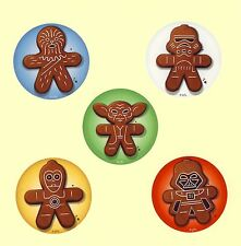 15 Star Wars Gingerbread - Christmas Holidays - Large Stickers - Party Favors