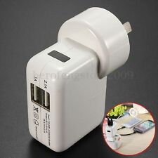 AU Plug Dual USB 2Port Wall Charger Adapter for iPhone6 iPad3 4s 5c 5s mini/air2
