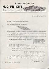 BIELEFELD, Brief Werbung 1936, Greif Rüben-Kartoffel-Roder  H.C. Fricke GmbH