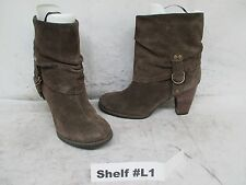 Indigo by Clarks Brown Suede Mid-Calf Boots Size 7 M Style 32990