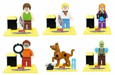 6pcs Sets Scooby Doo Lot Shaggy Fred Daphne Zombie MiniFigures Blocks Bricks Toy