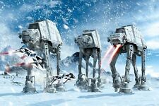 Star Wars Hoth Battle Walkers and A-Wings Poster Print, 24x36