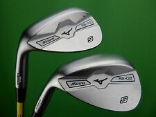 NICE! Mizuno MP-S5 White Satin Wedge Set - LH - 52-09*, 56-10*, Gap Sand Wedge