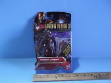 "Marvel  Iron Man 2 Comic Series Crimson Dynamo 3.75""in Figure and 3 Armor Cards"