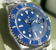 Rolex SUBMARINER 116619 Mens White Gold Blue Ceramic Bezel Oyster Blue Dial 40MM