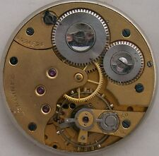 Longines XFine Pocket Watch movement & dial Chronometer balance broken 41,5 mm.