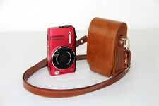 Brown leather case bag pouch for Canon Powershot SX620 HS, SX610 HS, ELPH 350 HS