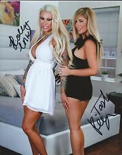 Tasha Reign & Lolly Ink Sexy Combo Hand Signed 8x10 Photo Adult Model COA Proof